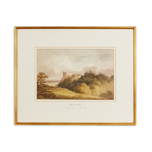 Watercolour Painting Arundel Castle By Paul Sandby Munn 1773-1845