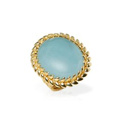 Carla Amorim 18k Yellow Gold Cabochon Aquamarine Ring