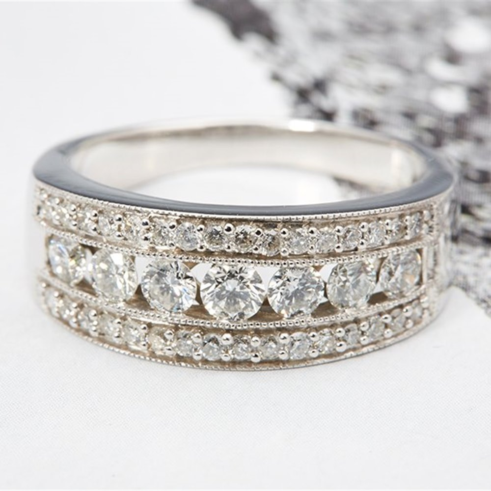 14k White Gold 14k White Gold 1.65cts Channel set Diamond Band