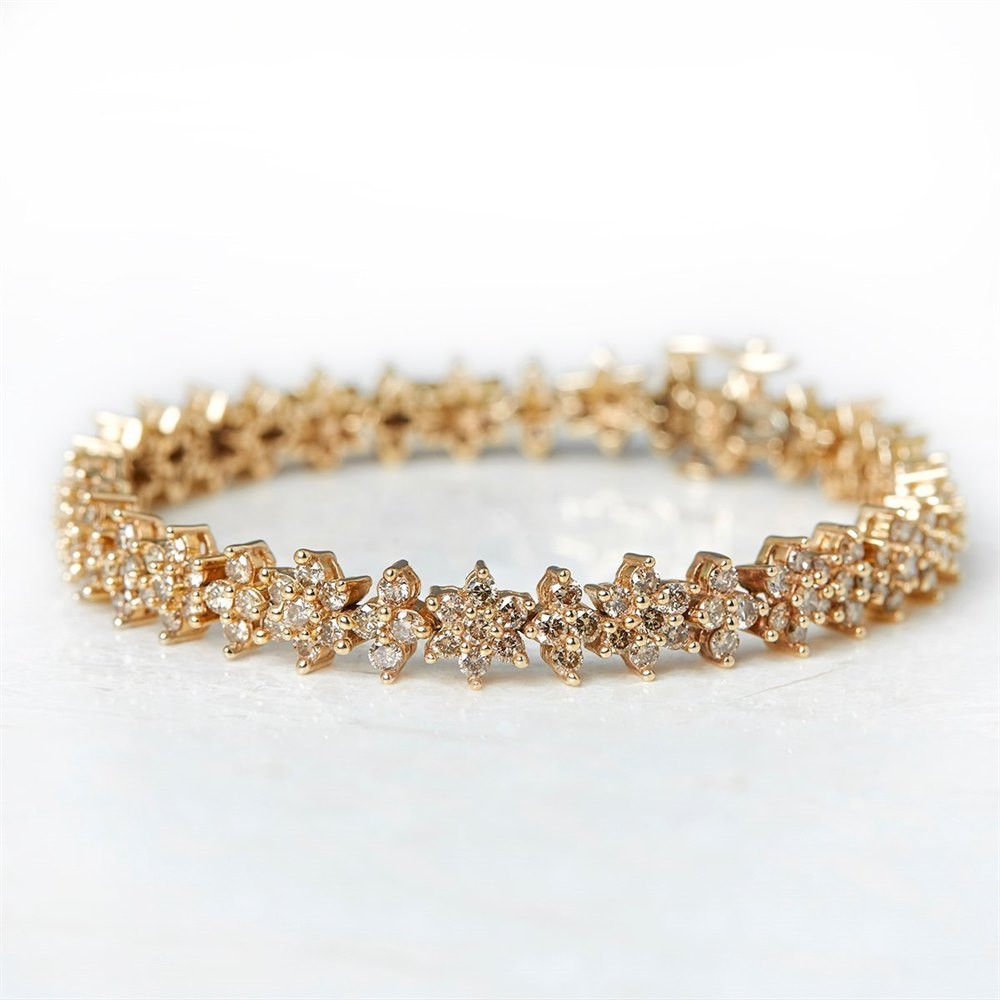 Diamond  14k Yellow Gold 7.10ct Yellow Fancy Diamond Bracelet