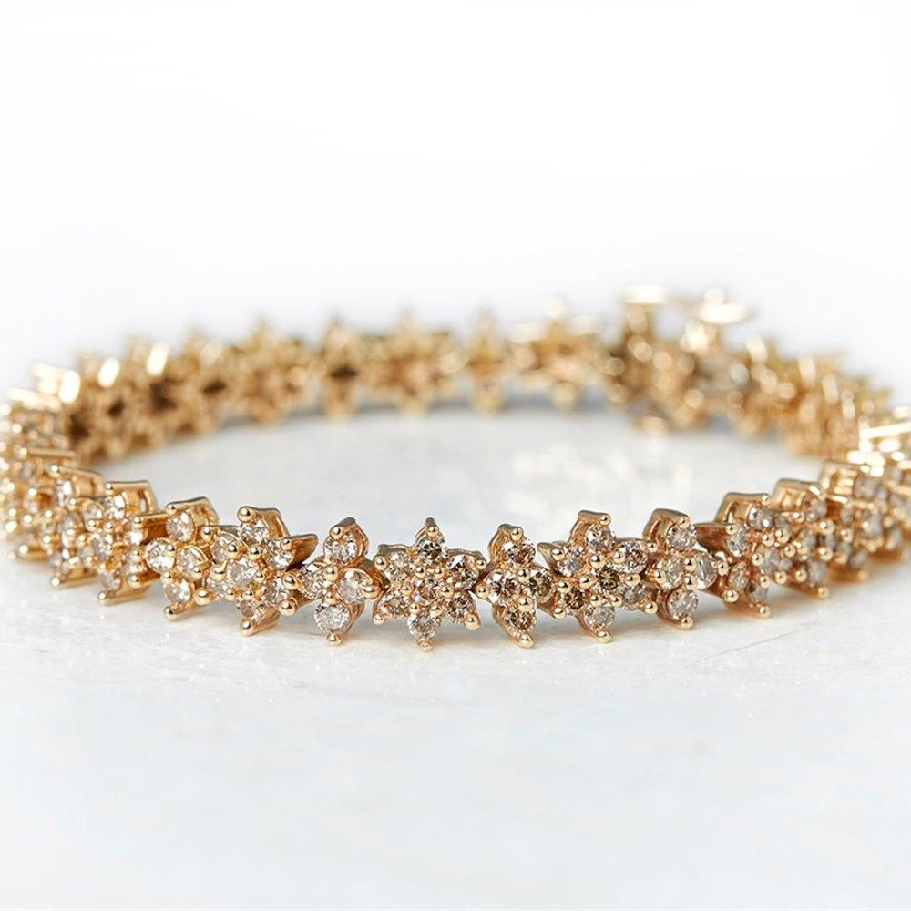 Diamond 14k Yellow Gold 7.10ct Yellow Fancy Diamond Bracelet