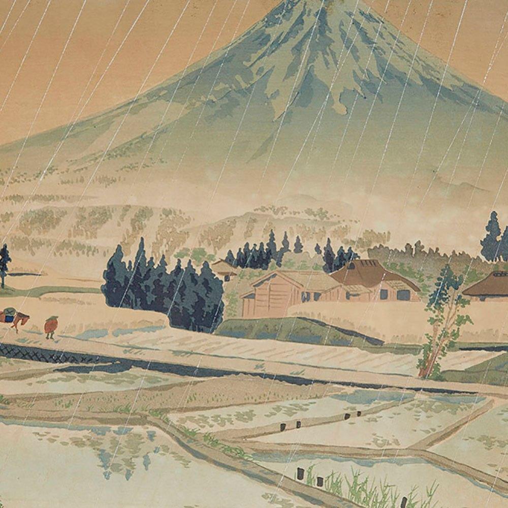 JAPANESE WOODBLOCK PRINTS MT FUGI TOMIKICHIRO TOKURIKI Believed 20th c.