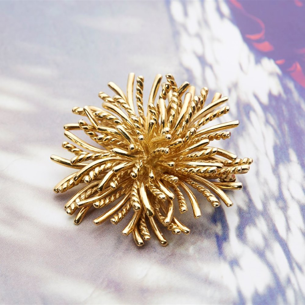 Tiffany & Co. 18k Yellow Gold Sea Urchin Brooch or Pendant