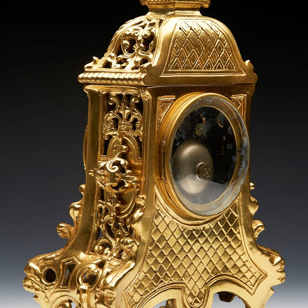 Antique French Gold Ormolu Mantle Clock