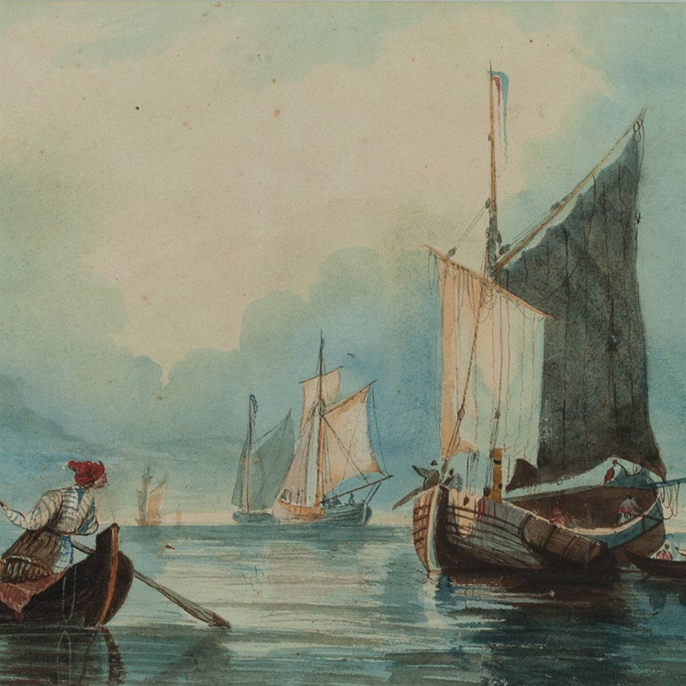 S. INGES, SEASCAPE 19TH C. Believed 19th c.