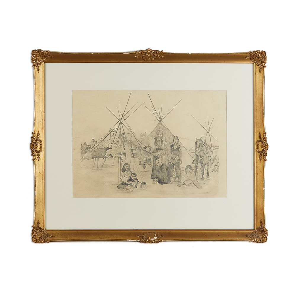 CAMPAIGN DRAWING, 19TH/20TH C Believed late 19th / early 20th century