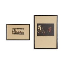 Pair Woodcuts By Rudolf Riege ' Rattenfänger ' 20Th C.