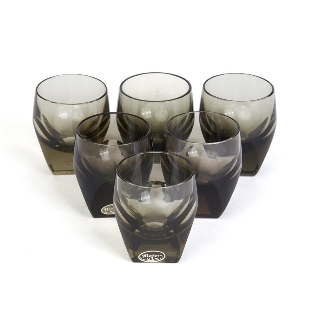VINTAGE MOSER VODKA GLASSES BY RUDOLF ESCHLER C.1934 Circa 1934