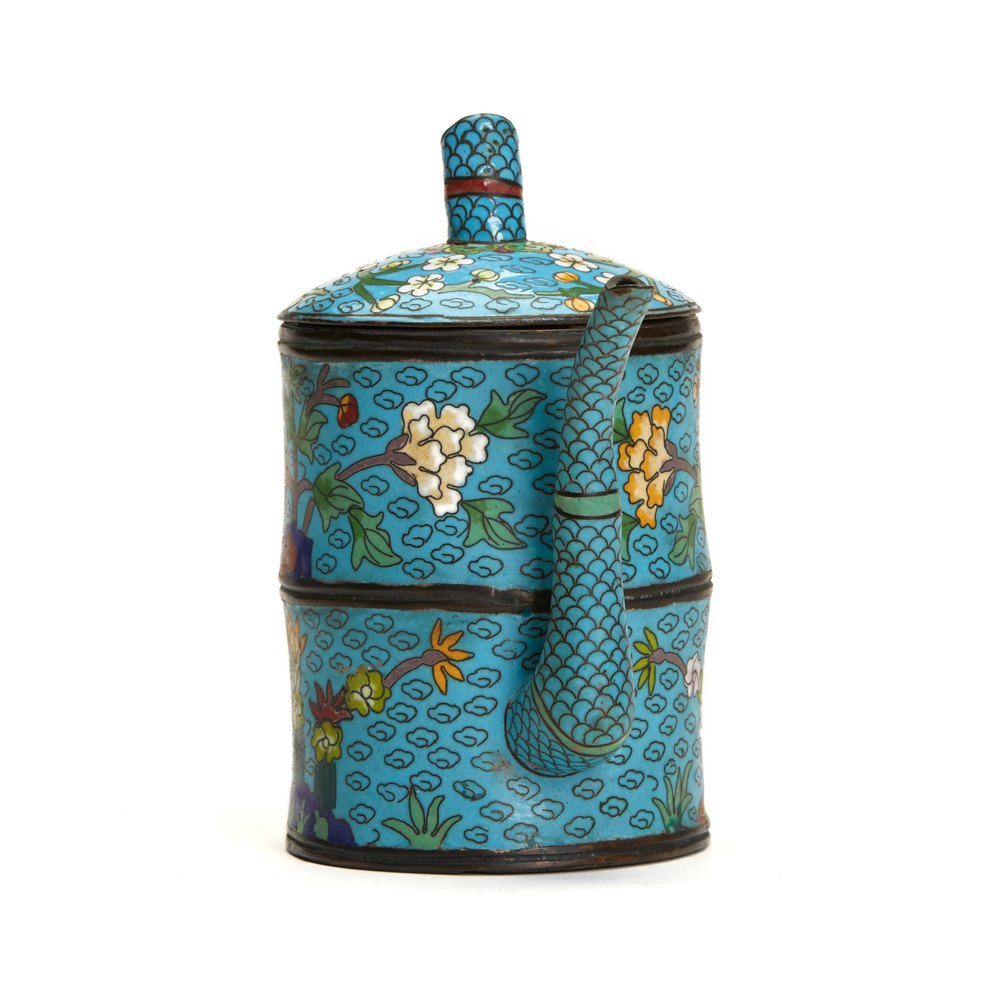 Chinese Cloisonne Teapot 19/20th C. Believed 19th or early 20th century but possibly earlier