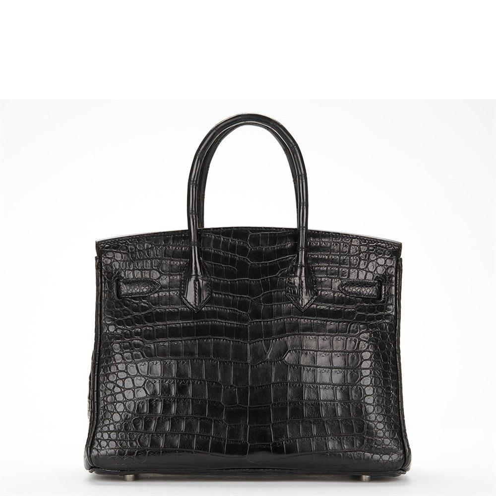 11ea65bedf9e ... purse d61ea 935a4 discount hermès black crocodile porosus leather birkin  30cm b23a8 d5a00 cheapest hermes black crocodile birkin with stunning  hardware ...