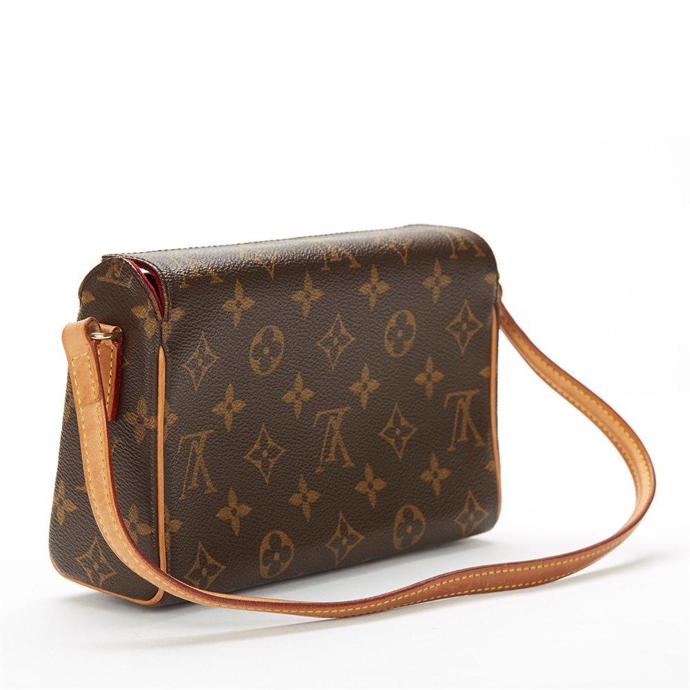 62af0db701d1 Louis Vuitton Brown Monogram Canvas Small Recital Shoulder Clutch Bag