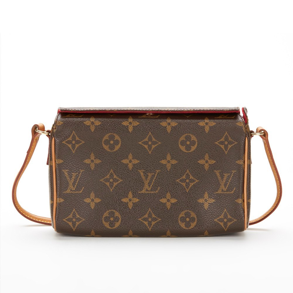 cba155ef4ffd Louis Vuitton Brown Monogram Canvas Small Recital Shoulder Clutch Bag
