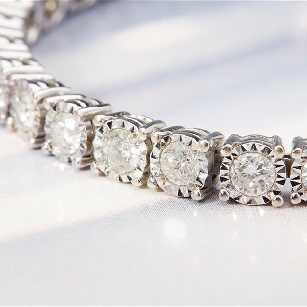 18k White Gold 18k White Gold 7.50ct Diamond Tennis Bracelet