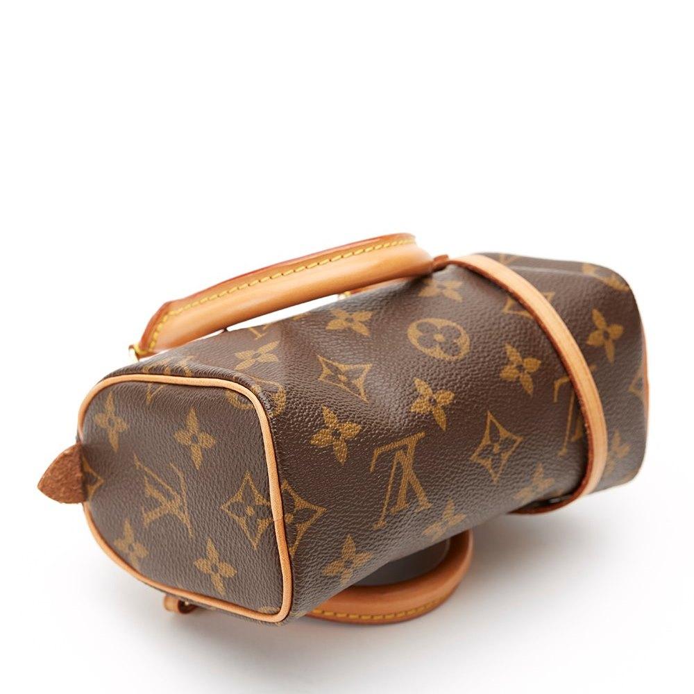 Louis Vuitton Mini Speedy Bag 2003 Cb010 Second Hand Handbags Maroon Brown Canvas Monogram