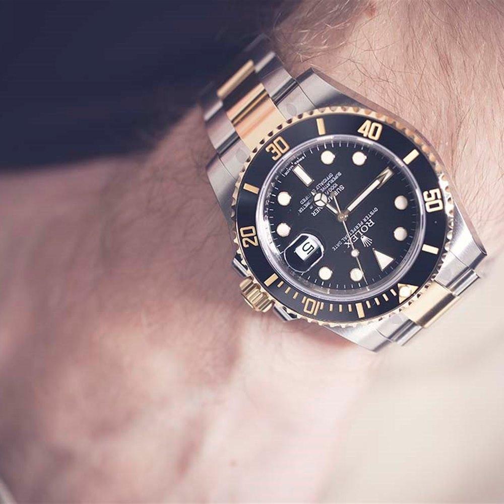 Submariner Stainless Steel 18k Yellow Gold 116613ln