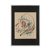 Haida Shaman's Rattle Ltd Edn 49/50 Silk Screen Print By Ken M Mowatt 1981