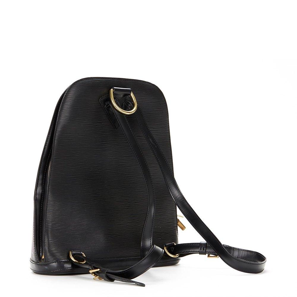 dbfe0fd71a14 Louis Vuitton Black Epi Leather Gobelins Backpack
