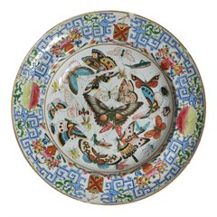 Antique Chinese Famille Rose Armorial Plate C.1800