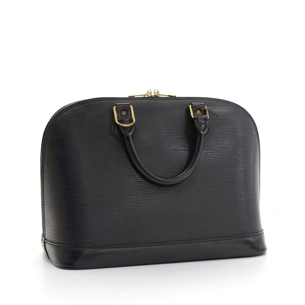ac20ee493a3a Louis Vuitton Black Epi Leather Alma Tote