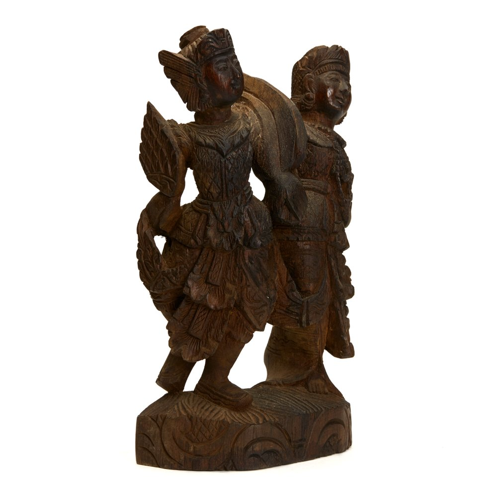 Antique Vintage Indian/Asian Wooden Carving 19/20th C. Possibly late 19th but probably 20th Century