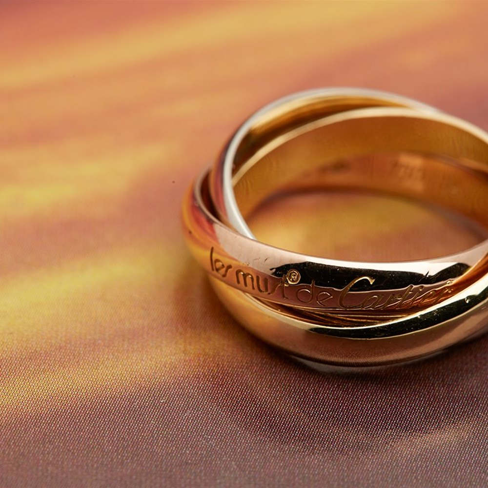 Cartier Trinity 18k Tri Colour Gold Ring Size 54