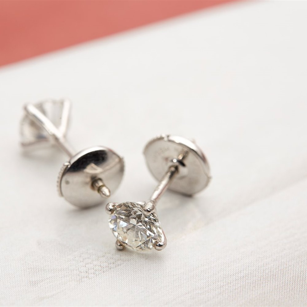 18k White Gold  18k White Gold 1.50ct Diamond Stud Earrings