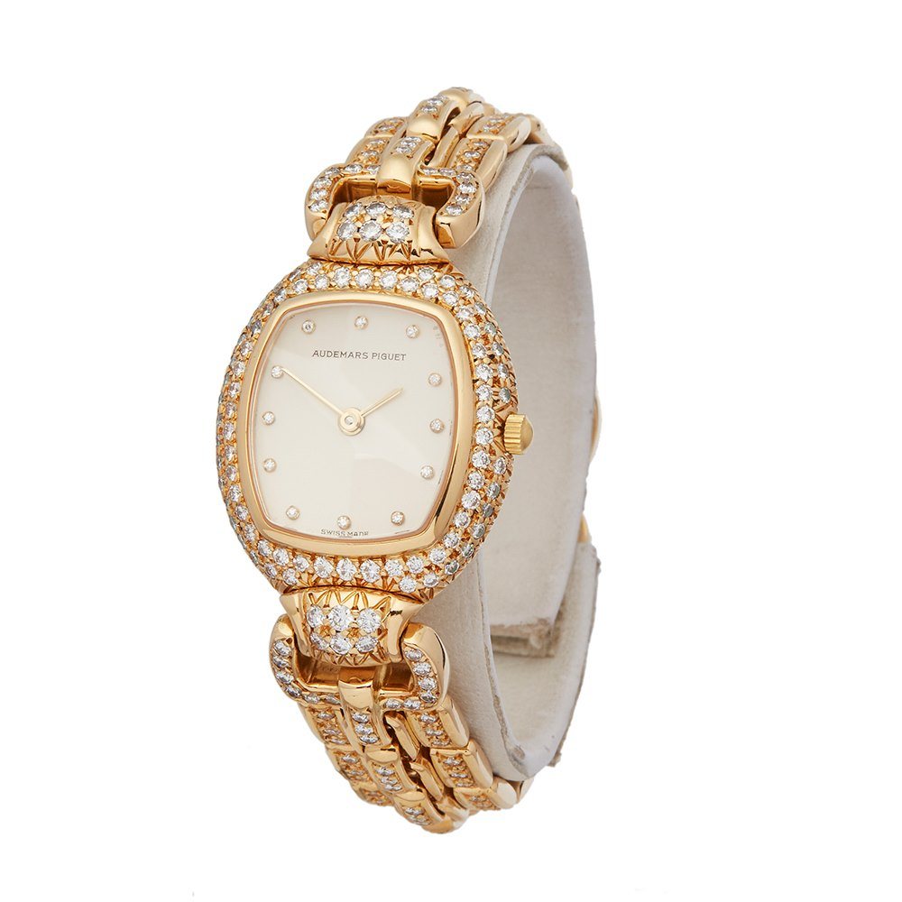 Audemars Piguet Vintage Diamond Set Mother Of Pearl 18K Yellow Gold