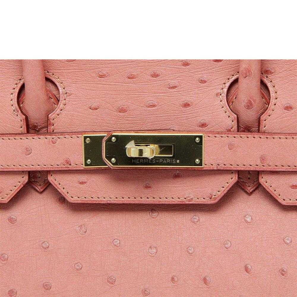 cd555e5e2cf1 Hermès Terre Cuite Ostrich Leather Birkin 30cm
