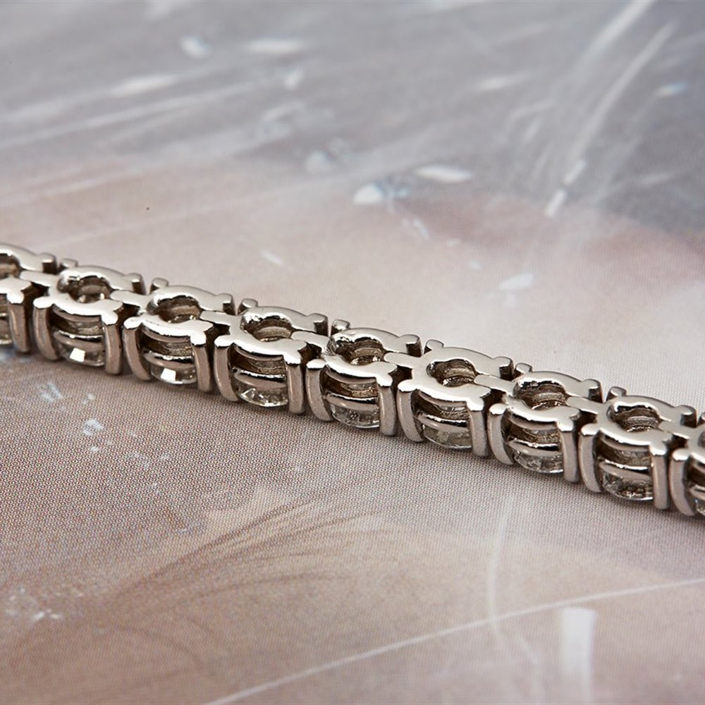 18k White Gold 18k White Gold 9.00ct Diamond Tennis Bracelet