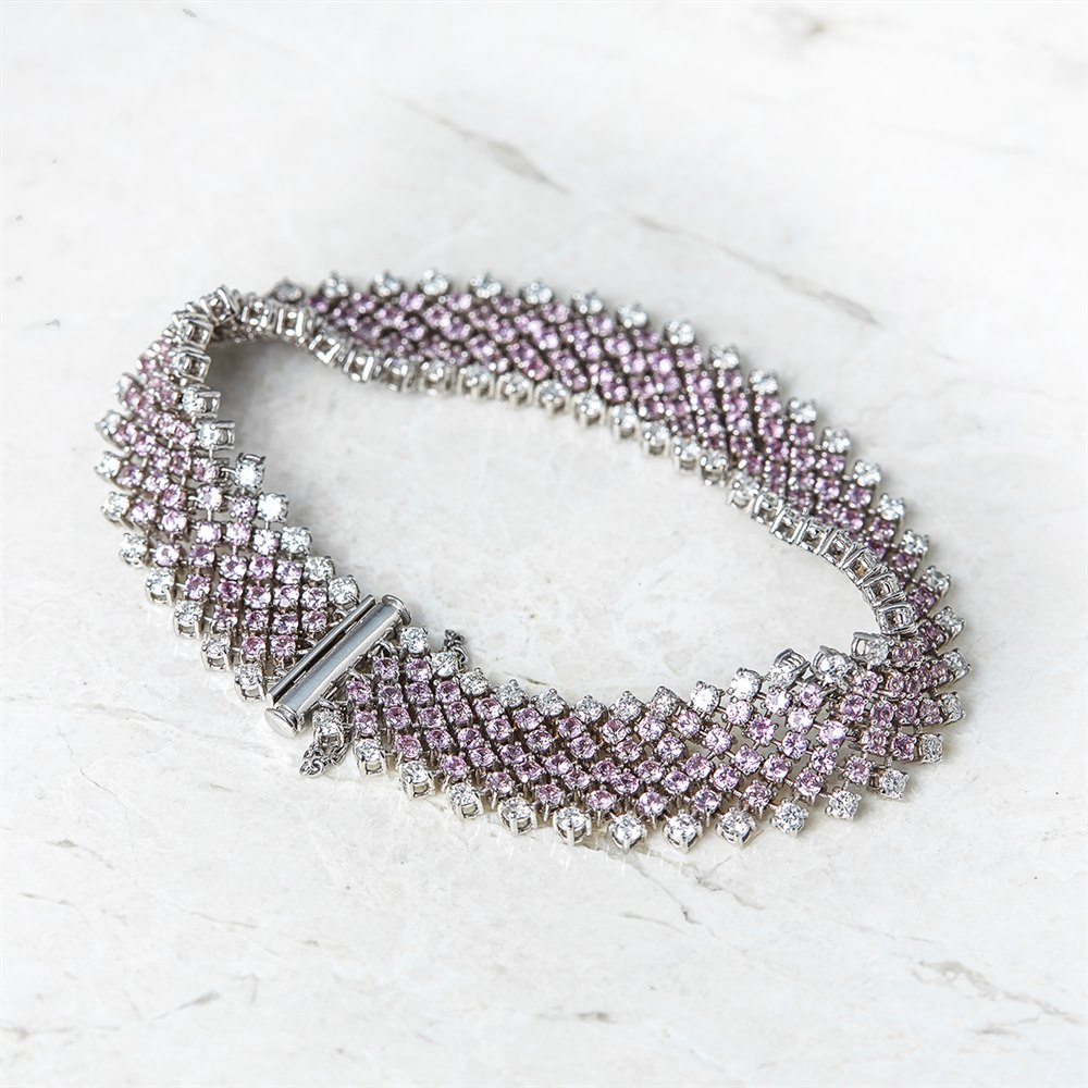 and pink topaz bracelet by artiqueboutique original artique rough boutique product diamond