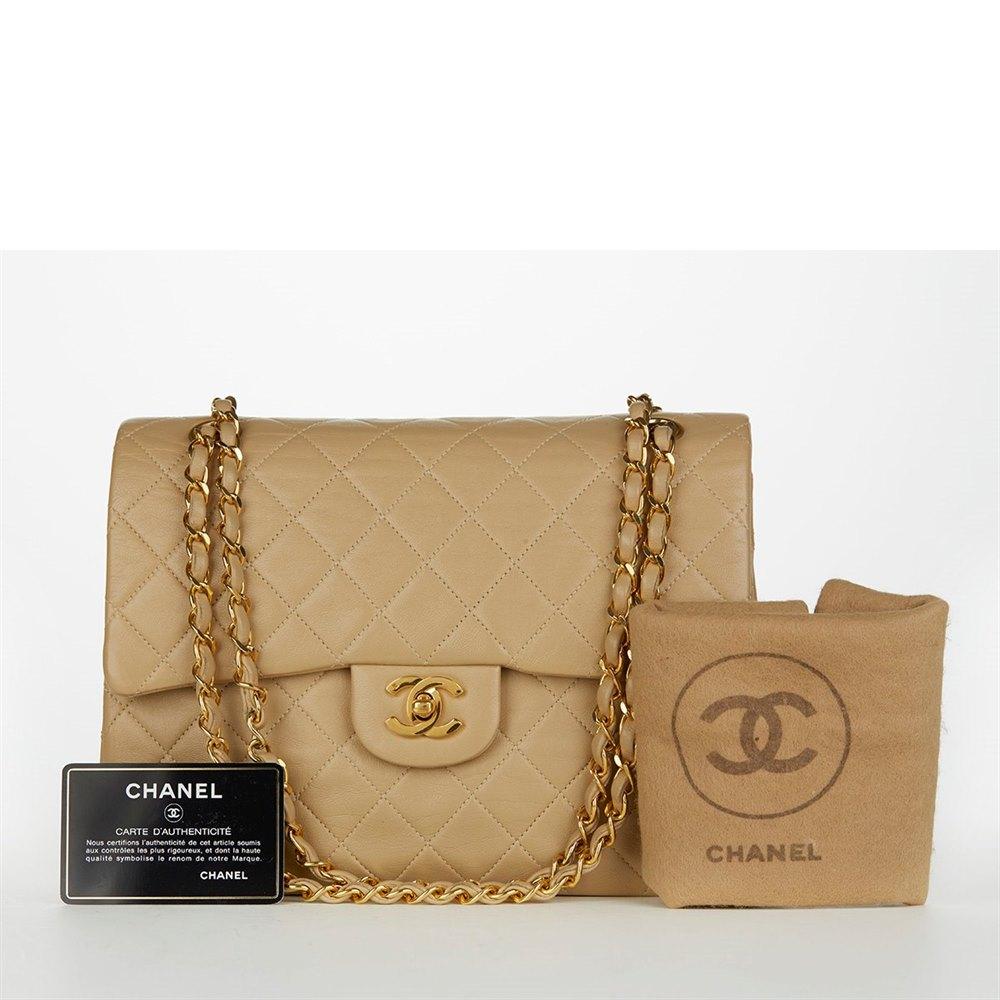 ea4472788a362e Chanel Jumbo Classic Double Flap Bag 1991 HB097 | Second Hand Handbags