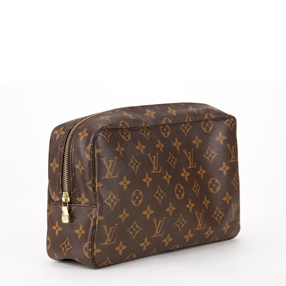 11f2ac0fc2dc Louis Vuitton Brown Monogram Canvas Trousse 28 Toiletry Bag