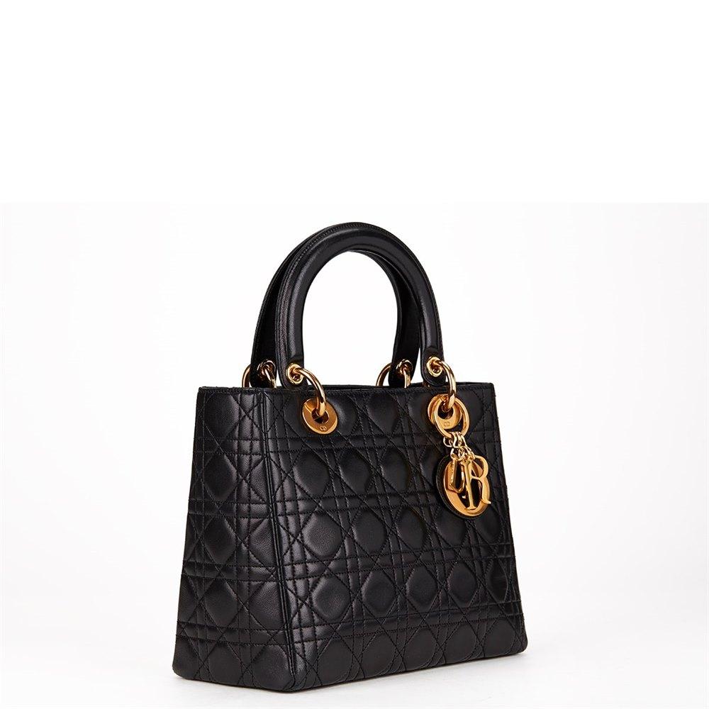 0bb146e28 Christian Dior Lady Dior MM 1990's HB098 | Second Hand Handbags
