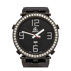 JACOB & Co. JCLDC Limited Edition Diamonds 48mm Black Dlc Coated Stainless Steel - JC-LG3DC