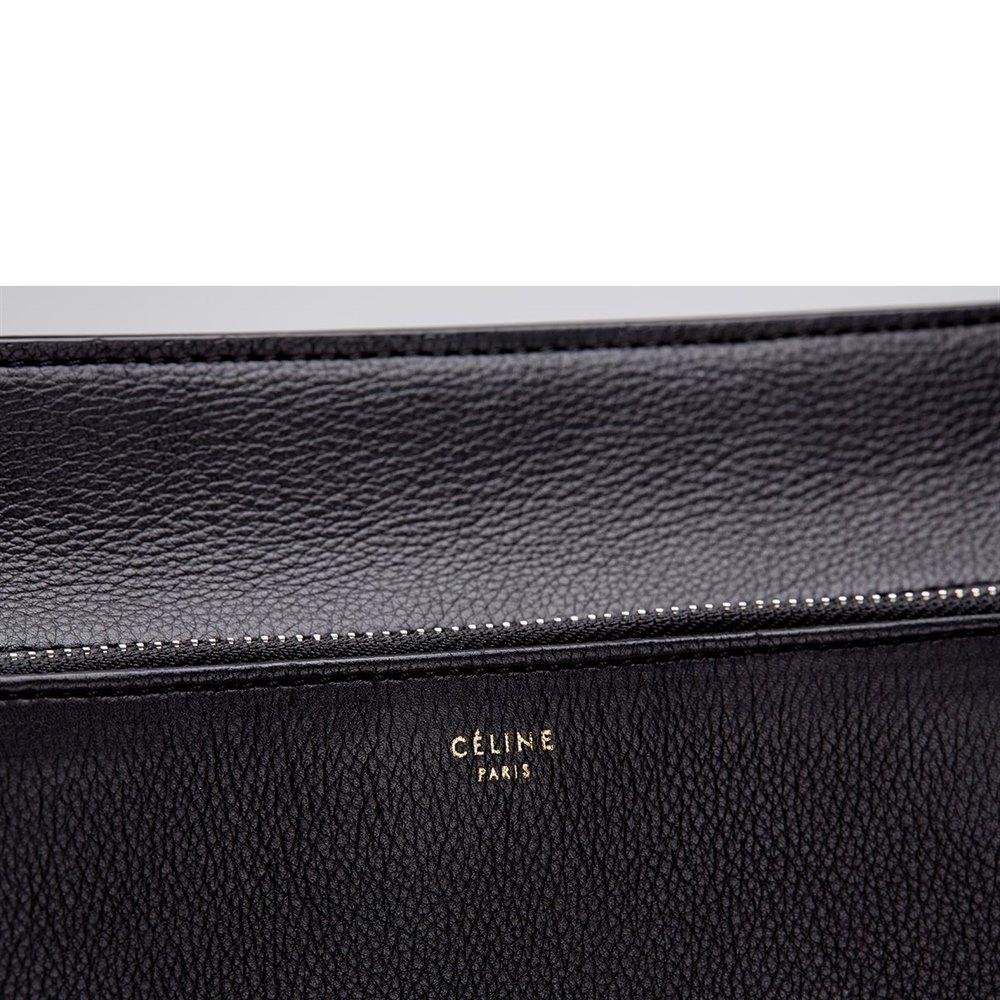 Céline Black Drummed Leather Edge