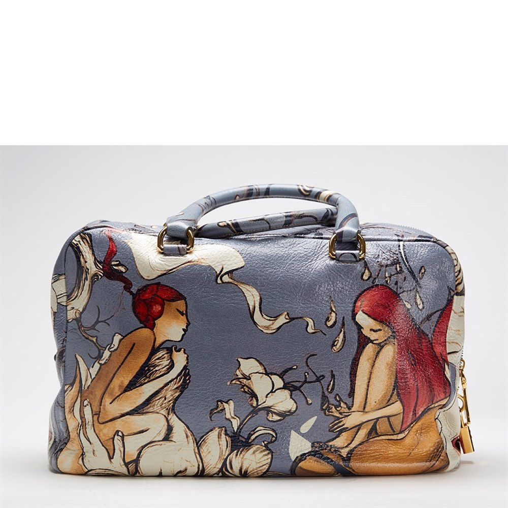 31fdca037bfc1f ... clearance prada deerskin leather limited edition james jean fairy bag  b408f f56ff ...