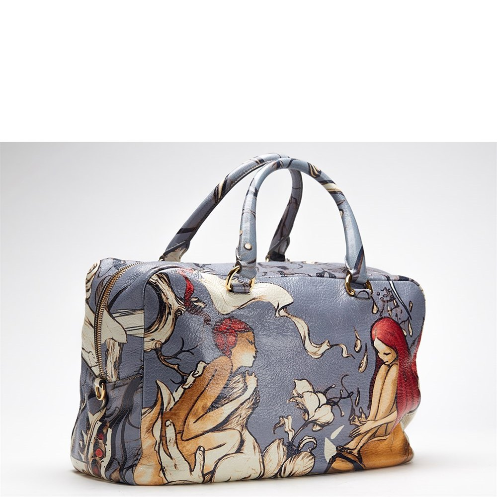 81ca133dff00 ... clearance prada deerskin leather limited edition james jean fairy bag  597ae 2b59a