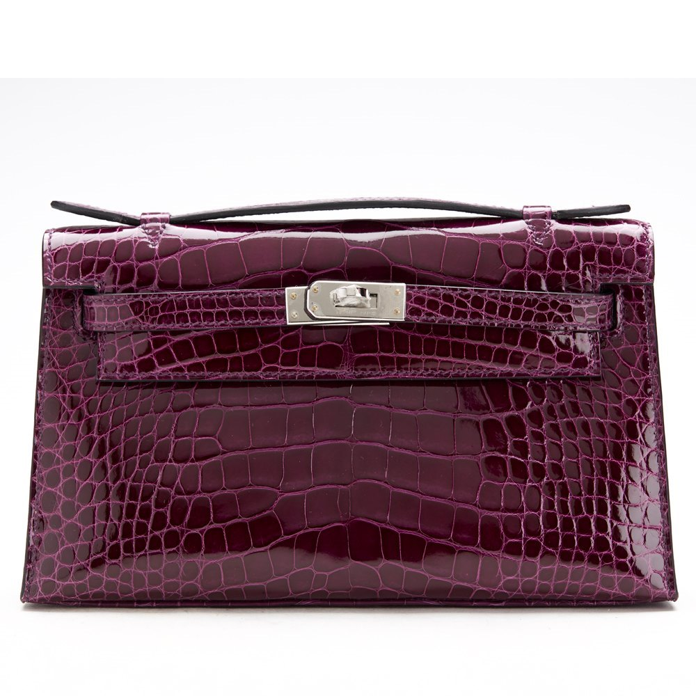 e391bcbd615 ... usa hermès cassis shiny alligator kelly pochette 7971c e0208