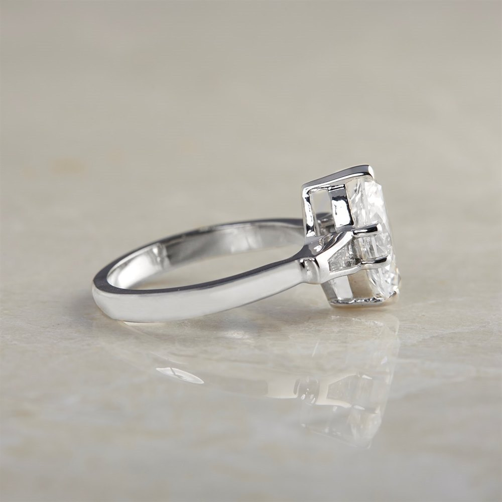 18k White Gold - 5.41 grams 18k White Gold Marquise Cut 2.00ct Diamond Ring