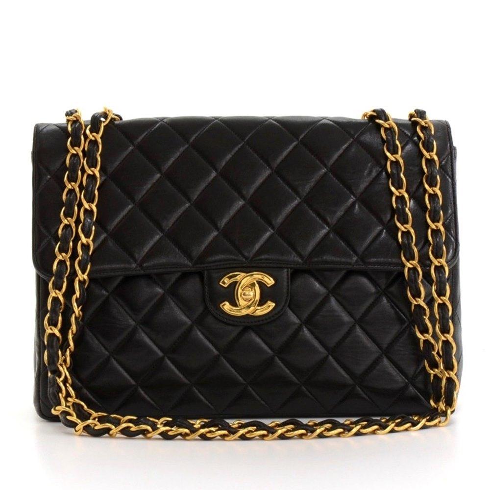 340e15b61984 Chanel Jumbo Classic Single Flap Bag 1996 HB129 | Second Hand Handbags