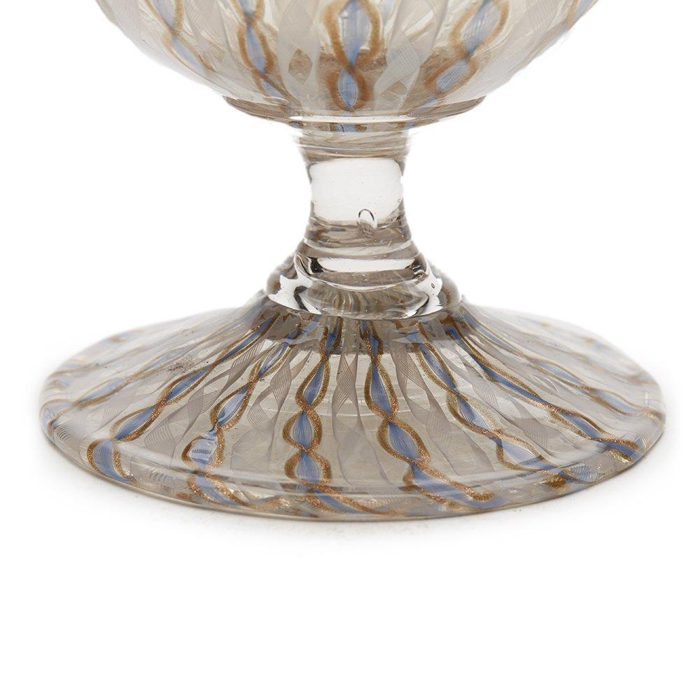 Antique Italian Facon De Venise Glass Vase 19Th C 19th Century