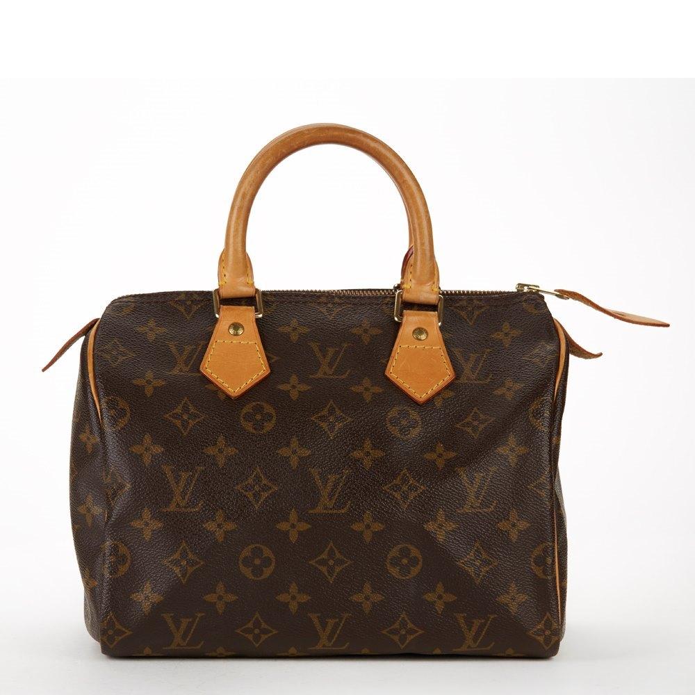 64c11079e9e0 Louis Vuitton Brown Classic Monogram Canvas Speedy 25