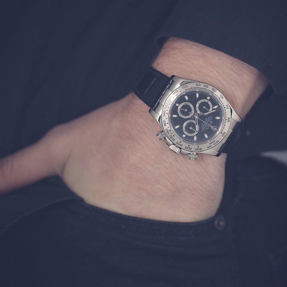Rolex Daytona Cosmograph Chronograph 18k White Gold 116519