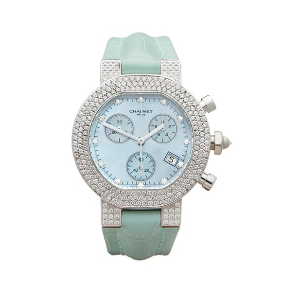 Chaumet Style De Chaumet Diamond Chronograph 18k White Gold - N/A