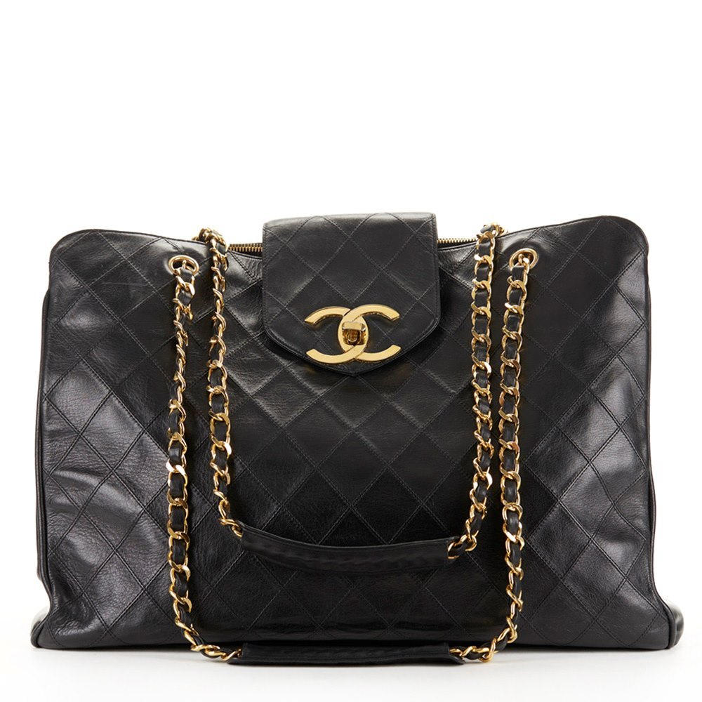 a74e1a933a6f Chanel Jumbo Supermodel Tote 1990 HB157 | Second Hand Handbags