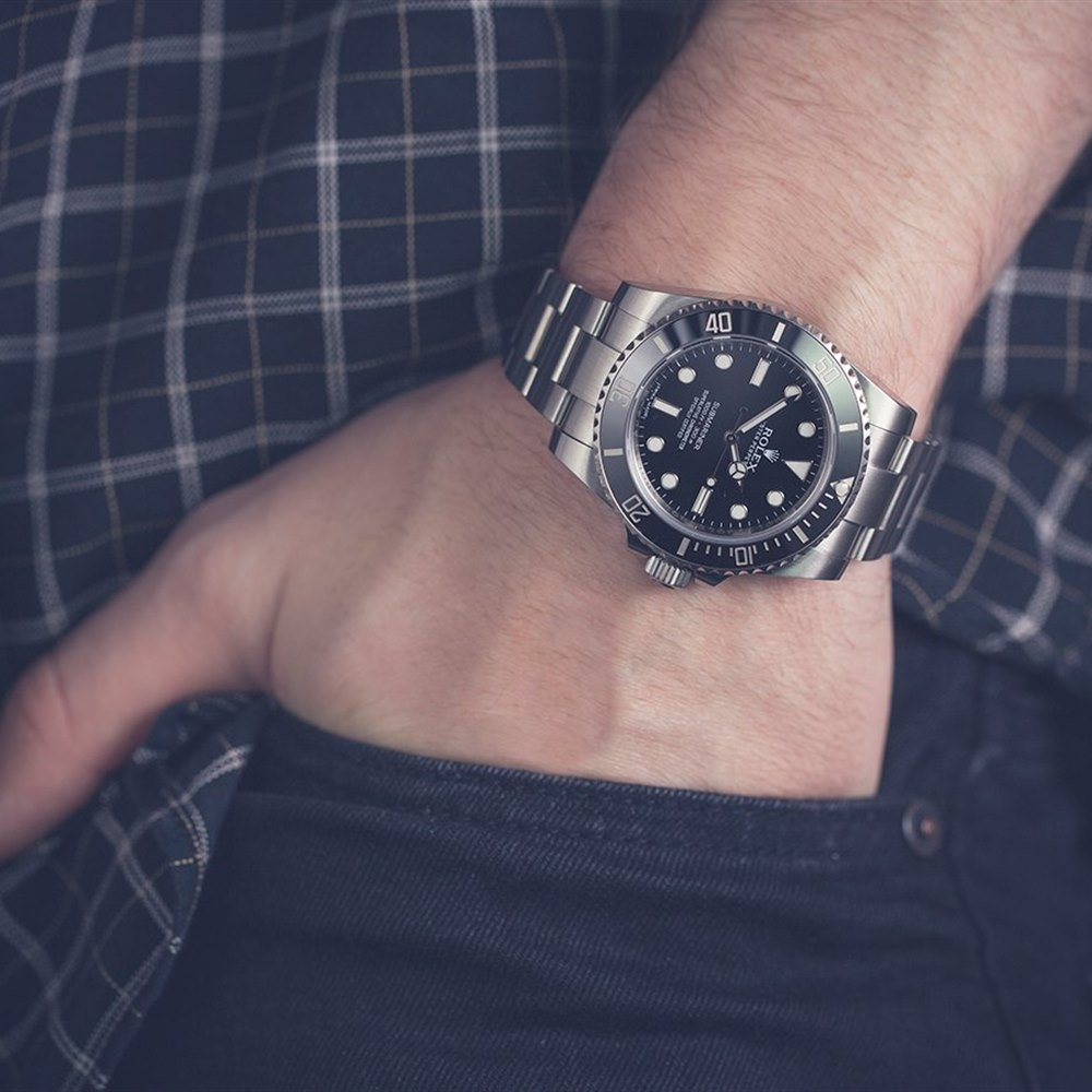 Submariner Non Date Ceramic Stainless Steel 114060