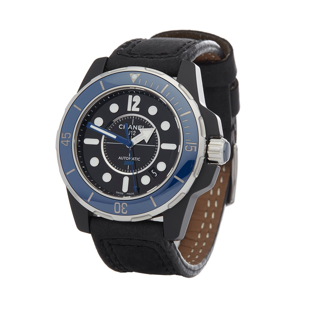 Chanel J12 Marine Diver Ceramic/Pvd Dlc Gecoat Roestvrij Staal H2559