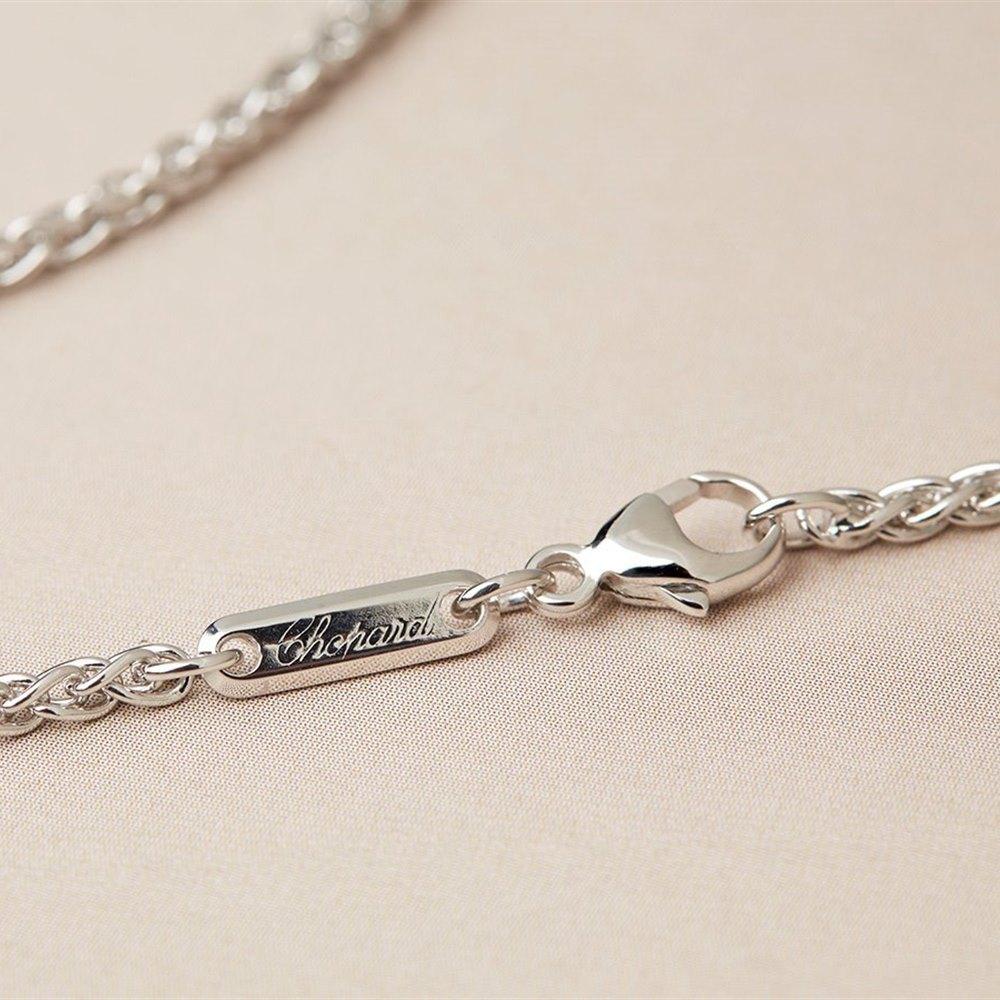 Chopard 18k White Gold Happy Diamonds Heart Necklace