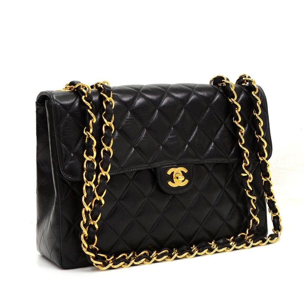 15136a410b3 Chanel Jumbo Classic Single Flap Bag 2002 HB219 | Second Hand Handbags