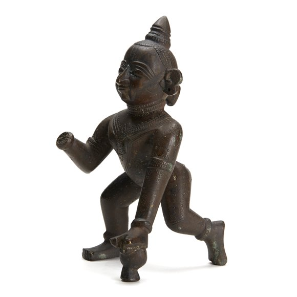 Antique Indian Bronze Krishna Figure 18/19th C.